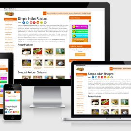Simple Indian Recipes - Responsive Website